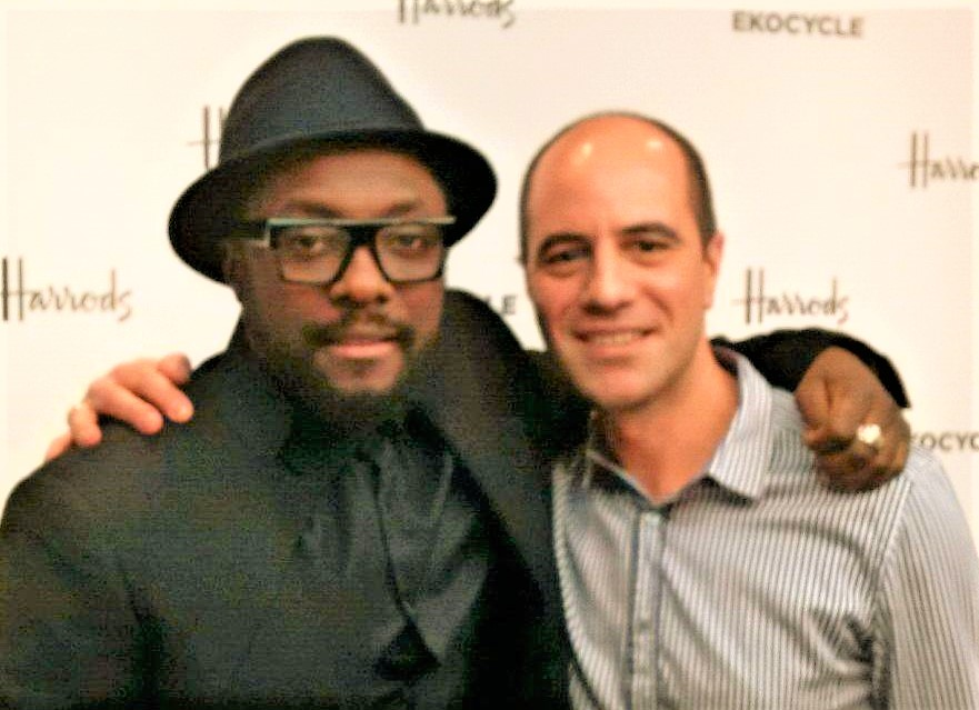 Philip Chryssikos with American rapper and music producer Wil-i-Am
