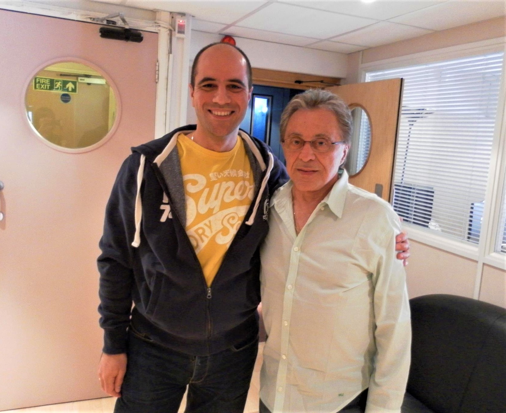 Philip Chryssikos with American singer and actor, Frankie Valli