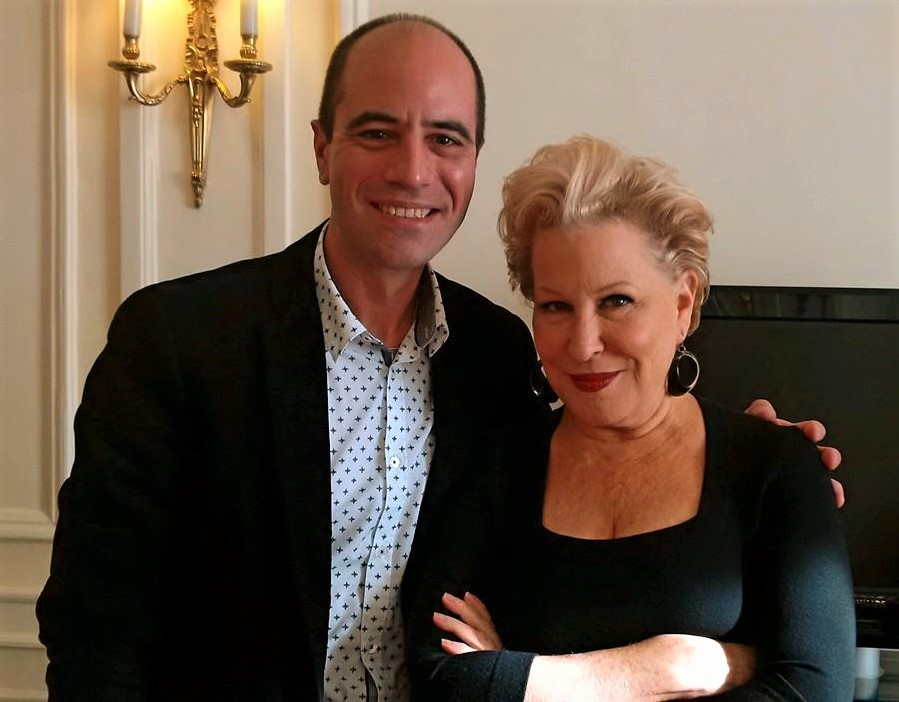 Philip Chryssikos with American singer, songwriter and actress Bette Midler