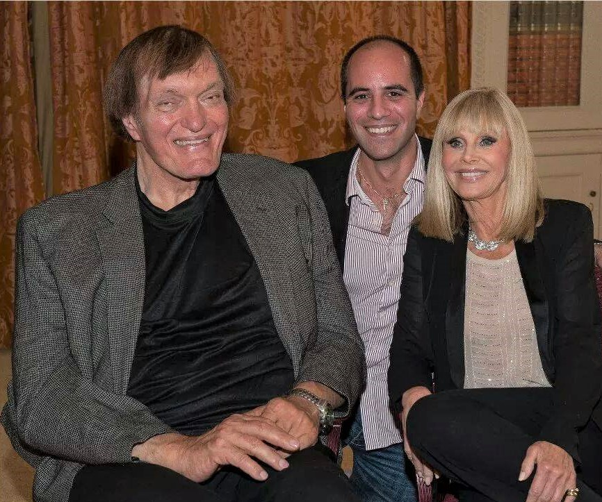 Philip Chryssikos with James Bond 'Jaws' actor Richard Kiel and Bond girl Britt Ekland