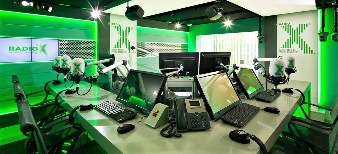 Radio X London studio