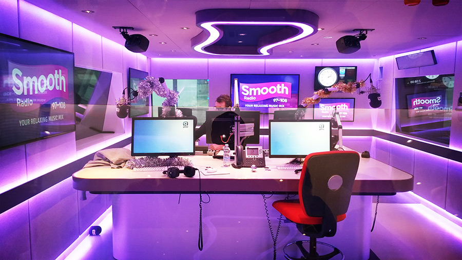 Smooth Radio London studio