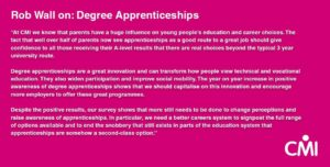 Rob Wall's view on degree apprenticeships